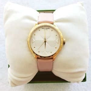 kate spade Rosebank scallop blush leather watch